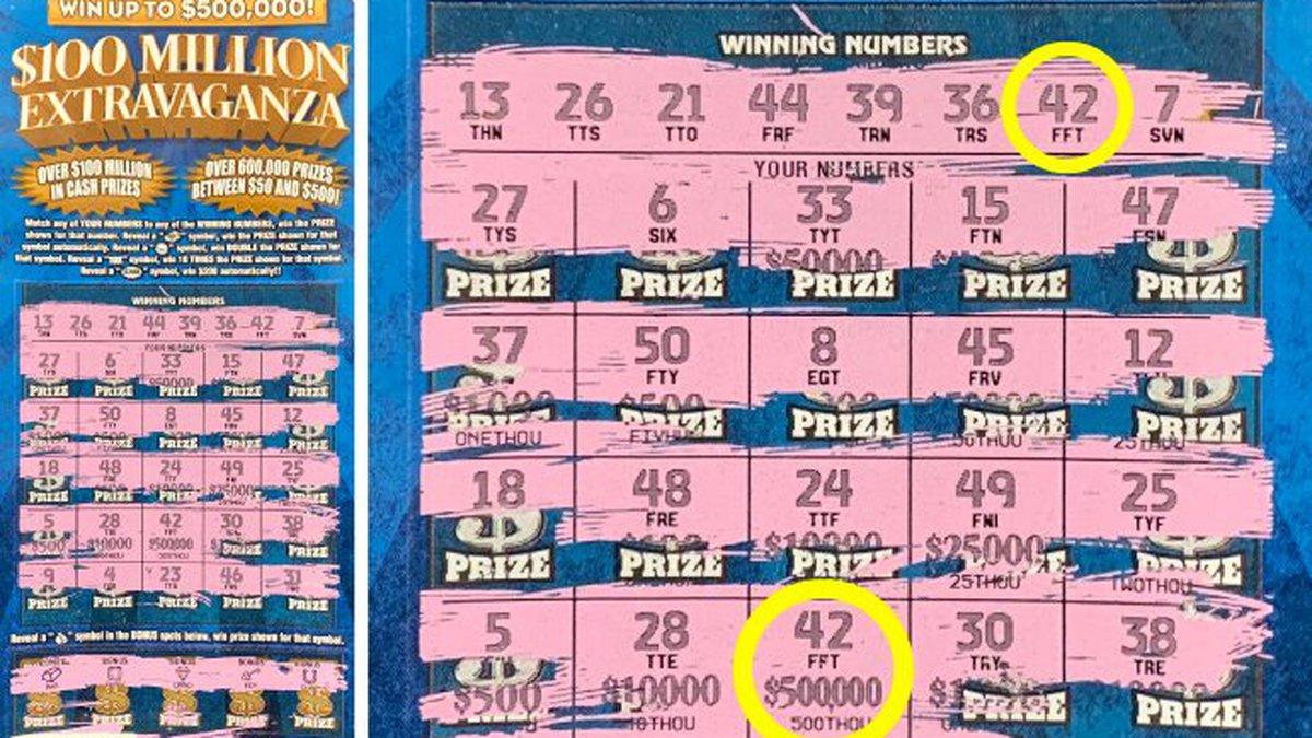 The winning scratch ticket