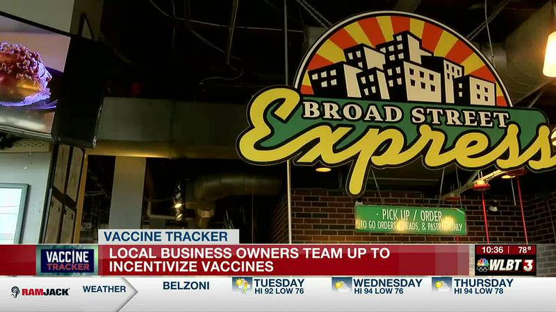Two local business owners team up to incentivize vaccines