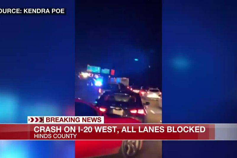 Crash on I-20 west shuts down interstate in Hinds County