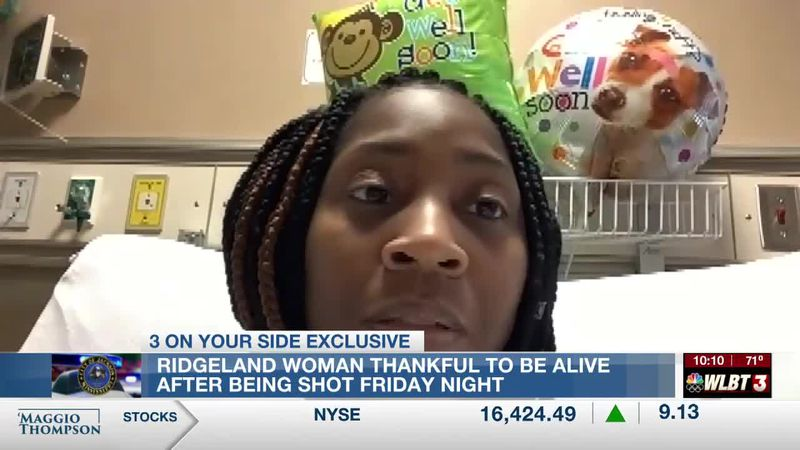 Ridgeland woman thankful to be alive after being shot Friday night