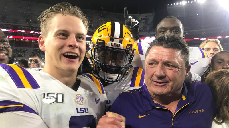 Joe Burrow and the Tigers are 9-0. (Source: Garland Gillen)