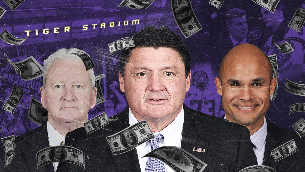LSU head coach Ed Orgeron and the rest of his staff will be rewarded handsomely for leading the...