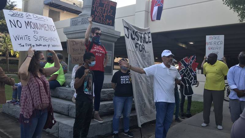 A planned protest for the removal of the Confederate statue at the Harrison County Courthouse...