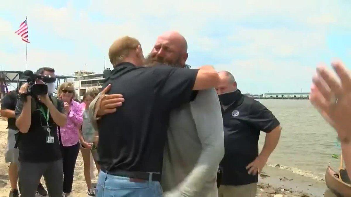 Gretna man arrives home from 2,500 mile kayak trip