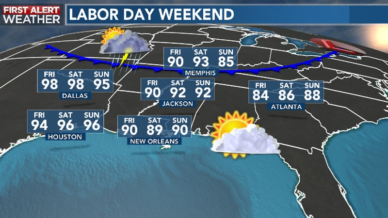 Unofficial End of Summer Features Sun, Clouds and Rain Chances by Labor Day Itself