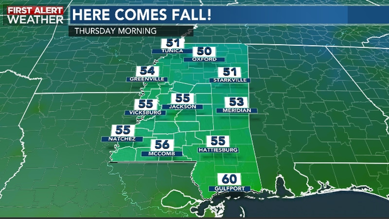 Cooler and more pleasant weather are in sight