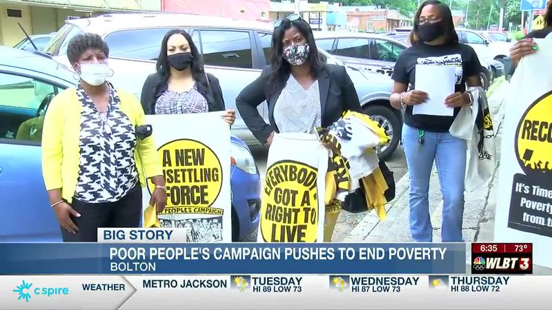 Poor People's Campaign rallies outside Cong. Thompson's office, pushes to end poverty