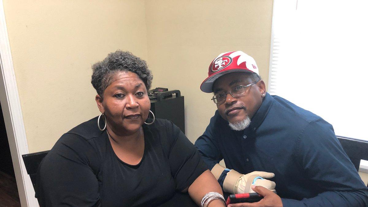 Karen Hill and Fred Thomas were both shot by Hill's ex-boyfriend.
