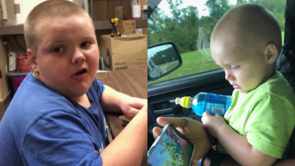 Kaiden, 6, and his 2-year-old brother Kolden were at Beach Park on Friday evening with their...
