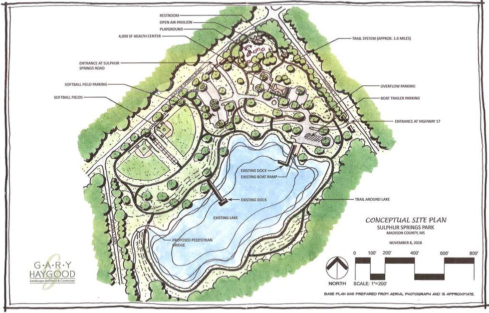 Site plan for Sulphur Springs Park (Source: Madison County Board of Supervisors)