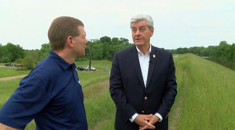 Gov. Phil Bryant recalls the night he was called to inspect the High Street levee during the...