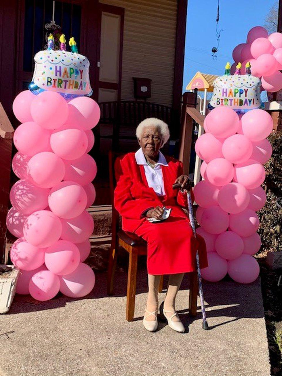 Mrs. Strait turns 105 years old.