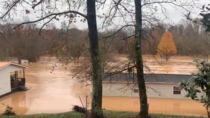 Flooding at Hiddenite Family Campground