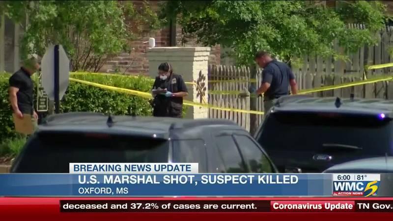 U.S. Marshal shot, suspect killed in Oxford, Mississippi