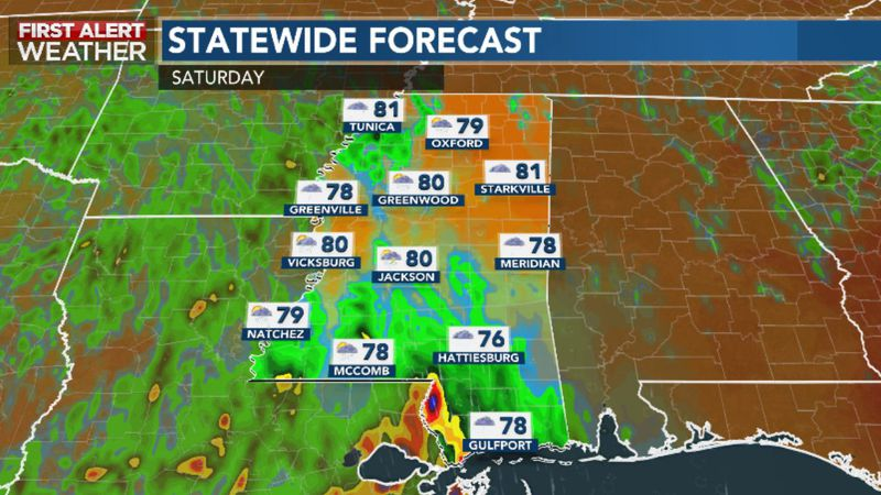 Periods of Rain and Storms Likely Through the Weekend