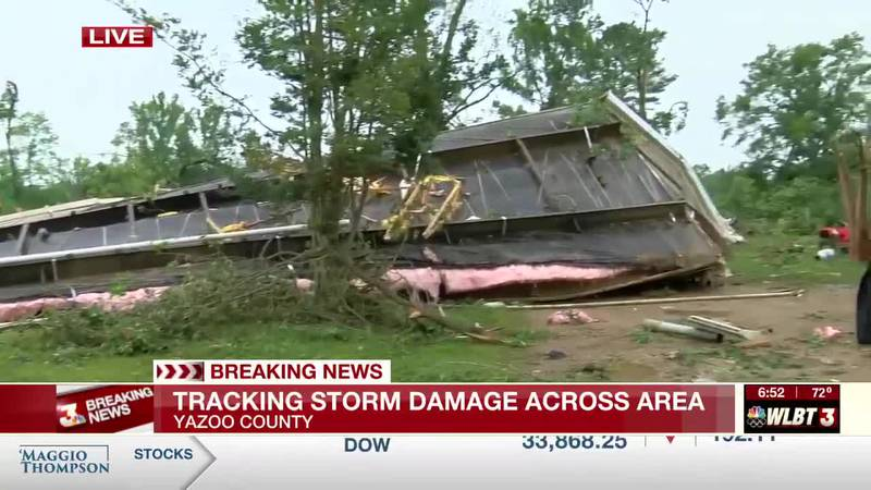 Yazoo mobile home destroyed after flipping upside down