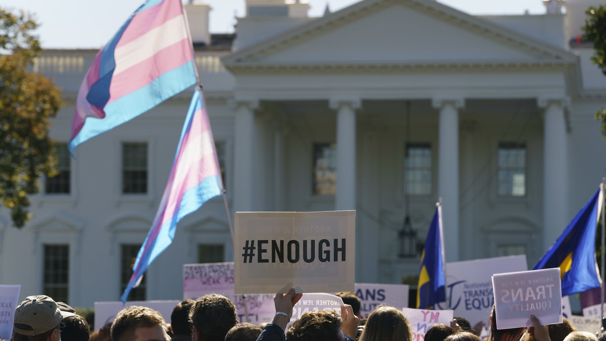 The National Center for Transgender Equality, NCTE, and the Human Rights Campaign gather on...