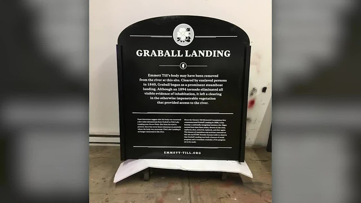 The new sign marking the spot where Emmitt Till's body was found in 1955 will be bulletproof...