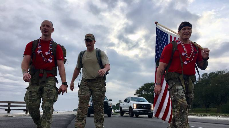 Special Tactics Airmen 830-mile Ruck March in honor of their fallen brothers.
