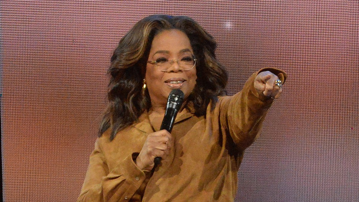 """FILE - This Feb. 8, 2020 file photo shows Oprah Winfrey during """"Oprah's 2020 Vision: Your Life..."""