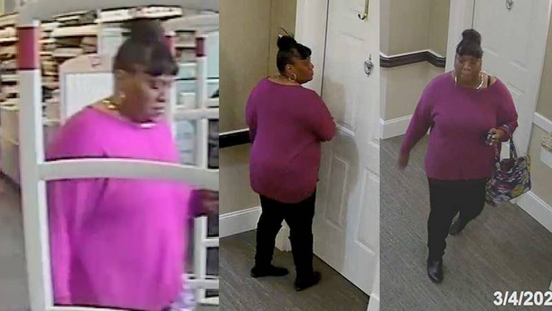 Police believe the woman in the video found the door unlocked, went in and stole the victim's...