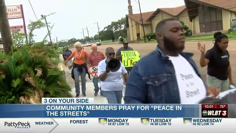 """Community members pray for """"Peace in the Streets"""" as Jackson's homicide number continues to climb"""