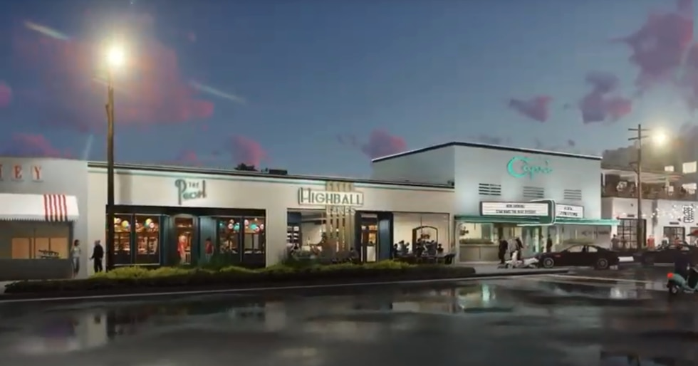 Development will feature a new movie theater and bowling alley.