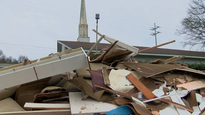 even though devastation has left it's mark on this little white Church… Pastor Chatham say's it...