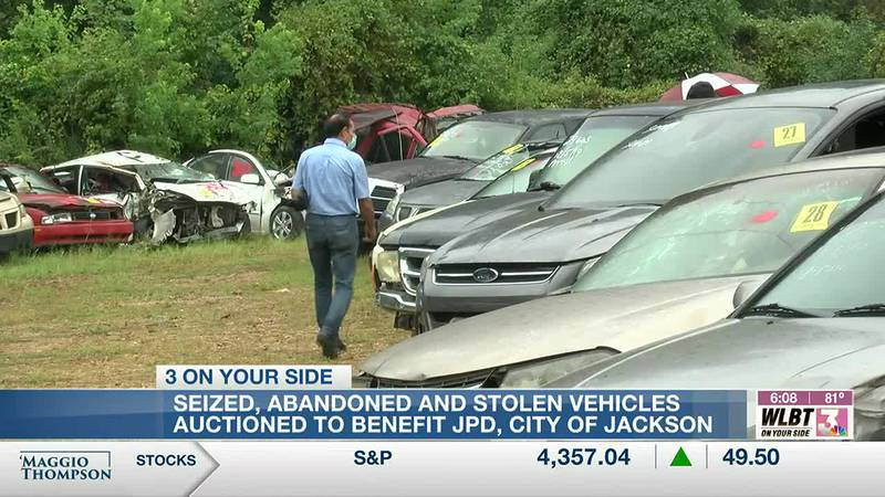 City of Jackson and JPD host auction for more than 150 cars and trucks