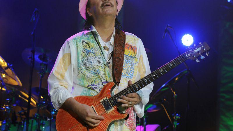 Carlos Santana performs at the Seminole Hotel and Casinos Hard Rock Live on May 2, 2014 in...