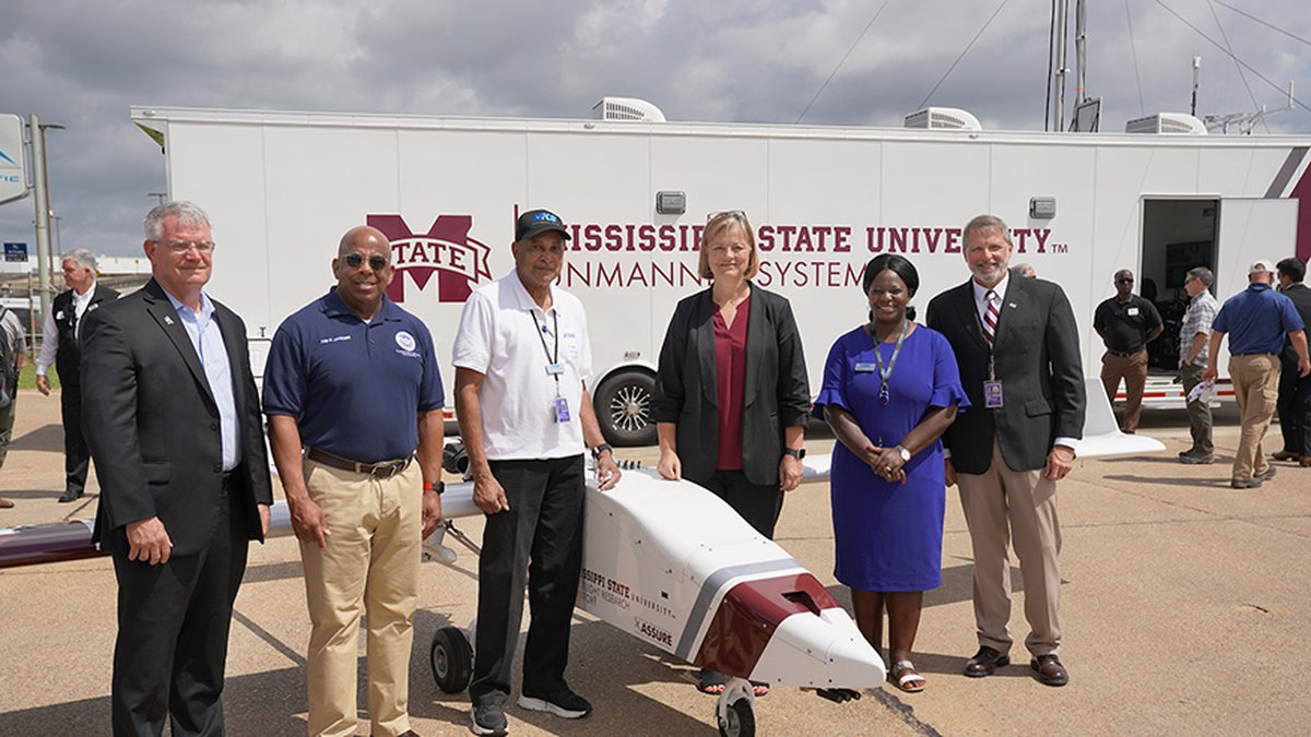 Mississippi State University and the Jackson Municipal Airport Authority worked together to fly...